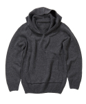 왓에버위원트(WHATEVERWEWANT) [UNISEX] V-NECK HOODIE PULLOVER [C.GRAY]