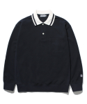 라이풀(LIFUL) CLASSIC LONG SLEEVE POLO navy