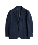 매료(MAERYO) WOOL JERSEY SINGLE JACKET - BLUE