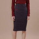 아웃스탠딩오디너리() wave golgi midi skirtcharcoal