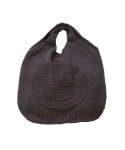 왓에버위원트(WHATEVERWEWANT) [UNISEX] SMILE KNIT BAG [C.GRAY]
