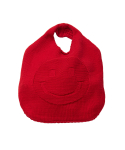 왓에버위원트(WHATEVERWEWANT) [UNISEX] SMILE KNIT BAG [RED]