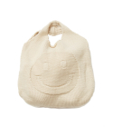 왓에버위원트(WHATEVERWEWANT) [UNISEX] SMILE KNIT BAG [IVORY]