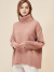 PINK CASHMERE WOOL TURTLENECK KNIT