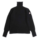 홀리선(HORLISUN) Dundee Turtleneck Slit Knit Black