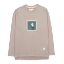 CAT FOOTED LONG SLEEVED T-SHIRT in BEIGE