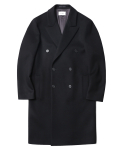 인사일런스(INSILENCE) Peak Double Cashemere Coat Black