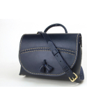 Tassel Shoulder Bag (No.1) (Navy)