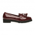 Pier4_SF Basic Tassle Loafer_Burgandy
