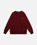 언더레인지(UNDERANGE) UR ELBOW PATCH SWEATSHIRTS (기모) WINE