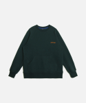언더레인지(UNDERANGE) UR ELBOW PATCH SWEATSHIRTS (기모) GREEN