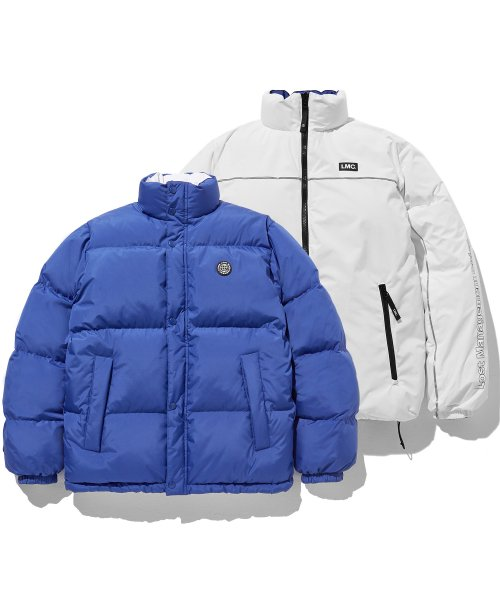 LMC RETRO REVERSIBLE DOWN PARKA bl/wh