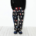 L.U.P BY LIPUNDERPOINT NEVER DIE PAJAMA PANTS_black