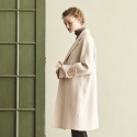 HAND MADE SLEEVE RIBBON COAT_IVORY
