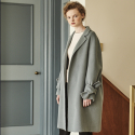 메종드이네스(MAISONDEINES) HAND MADE SLEEVE RIBBON COAT_BLUE