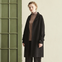 메종드이네스(MAISONDEINES) HAND MADE SLEEVE RIBBON COAT_BLACK