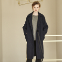 메종드이네스(MAISONDEINES) OVER HERRINGBONE COAT_NAVY