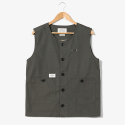 Put Up Crew Neck Vest [Khaki]