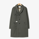 Robe Shawl Collar Coat [Khaki]
