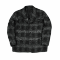 디미트리블랙(DIMITRI BLACK) (2차리오더) OBLIQUE WOOL CHECK JACKET