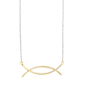 Season 2 curved bar necklace ( Gold. Silver )