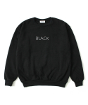COLOR SIMPLE SWEAT SHIRTS BLACK