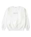 어메이드(AMADE) COLOR SIMPLE SWEAT SHIRTS WHITE