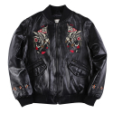 더 매드니스() FOLLOW LEATHER JKT_BK