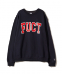 FUCT / COLLEGE LOGO CREW NECK / NAVY BLUE