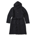 17FW KNIT HOOD COAT BLACK