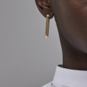 Extruded triangle Earring (Silver/Gold)