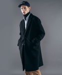이스트쿤스트(IST KUNST) LOOSE FIT CHESTERFIELD COAT [BLACK] IK1HWUC812A