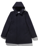 라이풀() REVERSIBLE HOODIE OVER COAT navy