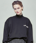 살롱드서울(SALON DE SEOUL) UNISEX OVERSIZE SIMPLE SWEATSHIRT (BLACK)