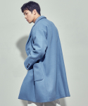 살롱드서울(SALON DE SEOUL) UNISEX DOUBLE OVERCOAT (BLUE)