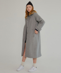MG7F HIGH COLLAR WOOL MAC COAT (GRAY)