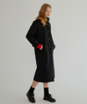 MG7F HIGH COLLAR WOOL MAC COAT (BLACK)