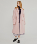 MG7F SINGLE LONG WOOL COAT (PINK)