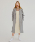 MG7F SINGLE LONG WOOL COAT (GRAY)