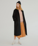 MG7F SINGLE LONG WOOL COAT (BLACK)