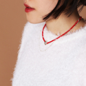 Vack and Forth necklace - RED