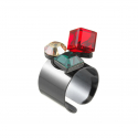 Holiday cube ring ( Red. Khaki )