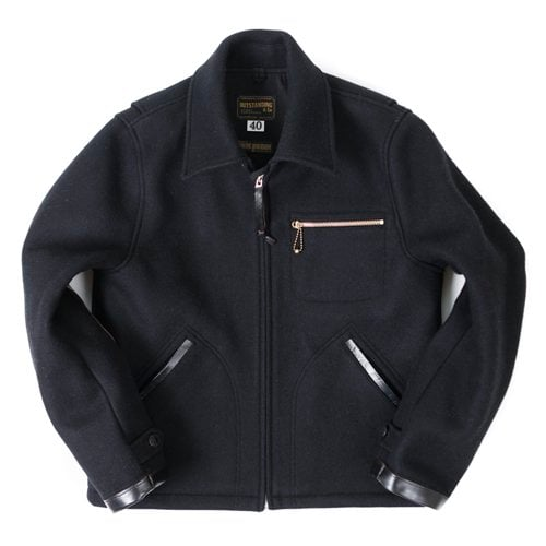 40s PLEATED SPORTS JACKET[BLACK]