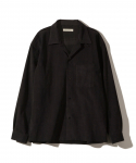 OLD JOE&CO / OPENED COLLAR SHIRTS (ARTIFICIAL LEATHER) / BLACK