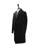 Premium Cashmere single coat (Black)_BCW17268