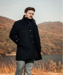 벨리프(BELLIEF) Premium Cashmere Mac coat (Navy)_BCW17270