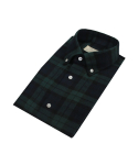 Blackwatch Check Flannel Shirt (Hunter)_BSW17272
