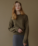엽페(YUPPE) twist knit_khaki