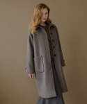 엽페(YUPPE) hidden button coat_green