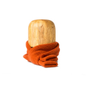 Shetland Wool Muffler : Orange